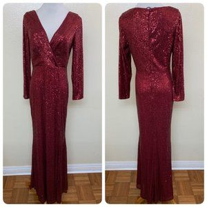 Ever Pretty Sequin Evening Long Gown Front Split